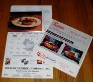 Falco Manufacturing - Pochantas Foods Calendar 1991 -1994